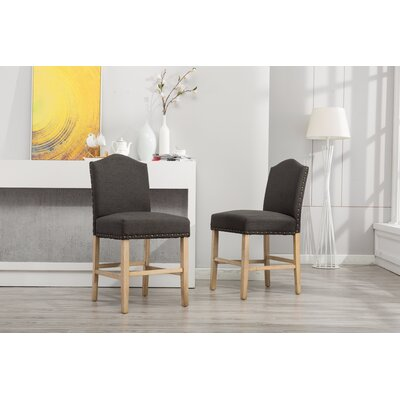 Clarrie Upholstered Dining Chair Upholstery Color: Charcoal