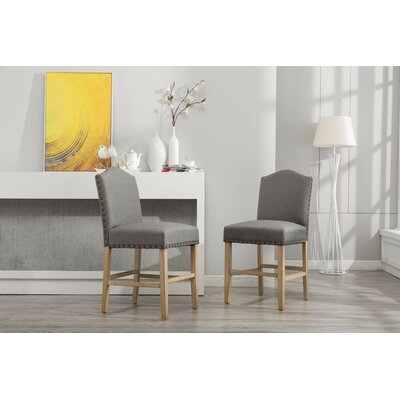 Clarrie Upholstered Dining Chair Upholstery Color: Gray