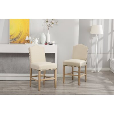 Clarrie Upholstered Dining Chair Upholstery Color: Tan