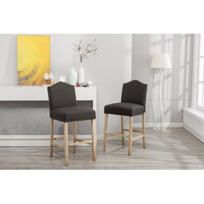 Clarrie 30.25 Bar Stool Upholstery: Charcoal