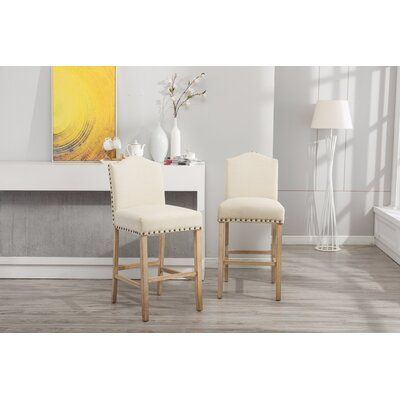 Clarrie 30.25 Bar Stool Upholstery: Tan