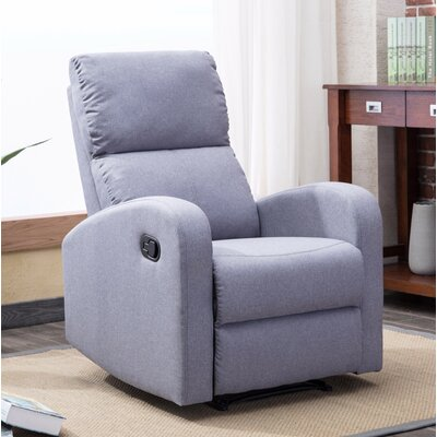Bayerl Contemporary Push Button Recliner Color: Gray