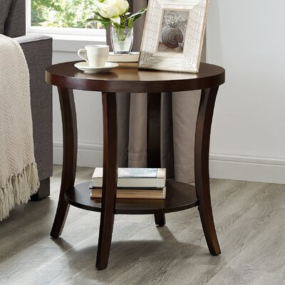 Hansmeier End Table with Storage Color: Expresso