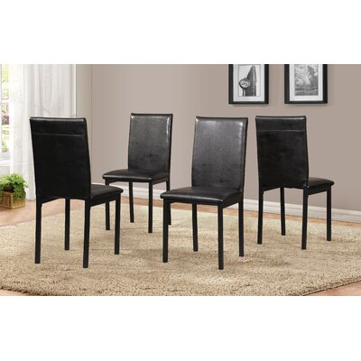 Nydam Upholstered Dining Chair Color: Black