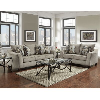 Driskill 2 Piece Living Room Set Upholstery: Gray