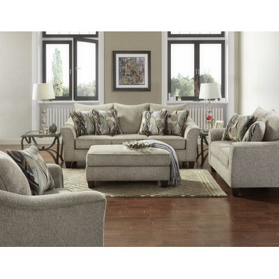 Driskill 4 Piece Living Room Set Upholstery: Gray