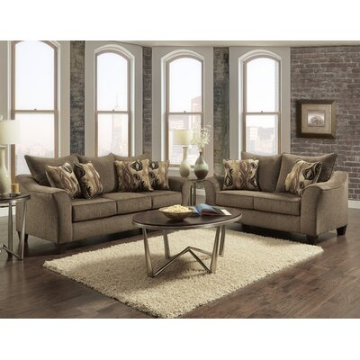 Driskill 2 Piece Living Room Set Upholstery: Brown