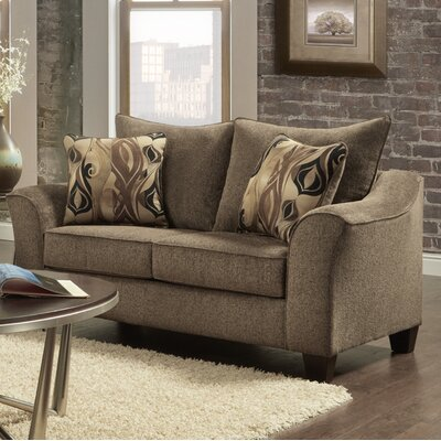 Driskill Loveseat Upholstery: Brown