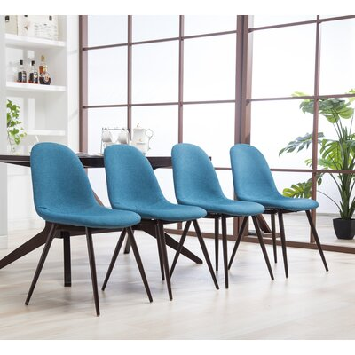 Crotts Upholstered Dining Chair Upholstery Color: Blue