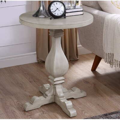 Wayland End Table Color: White