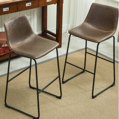 Bamey 29 Bar Stool Upholstery: Antique Brown