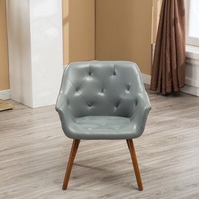 Yamada Diamond Tufted Accent Chair Upholstery: Gray
