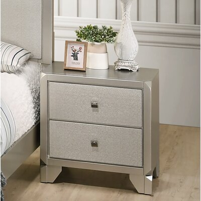 Yates 2 Drawer Nightstand