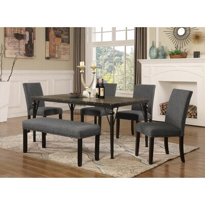 Amy 6 Piece Dining Set Color: Gray