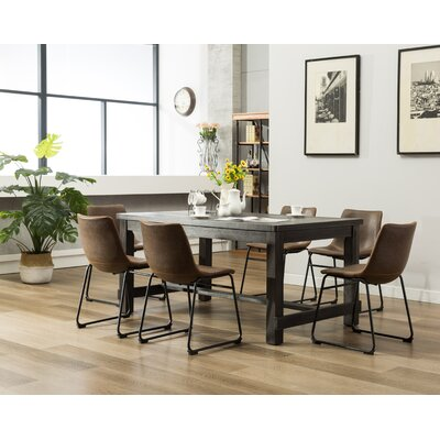 Bamey 7 Piece Counter Height Dining Set Color: Brown