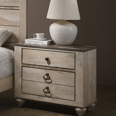 Manzano 3 Drawer Nightstand