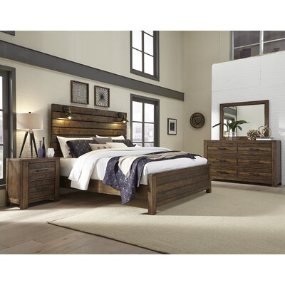 Emst Panel 4 Piece Bedroom Set Size: King