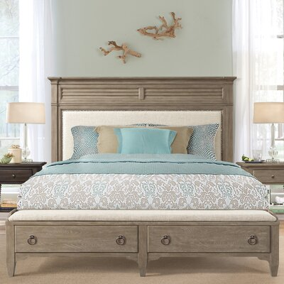Manhart Contemporary Upholstered Storage Platform Bed Size: King