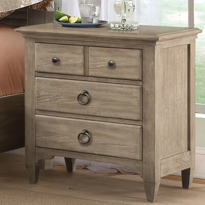 Manhart Contemporary 3 Drawer Nightstand