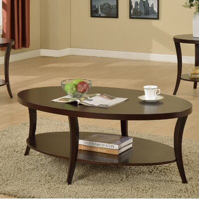 Hansmeier Oval Coffee Table Color: Expresso