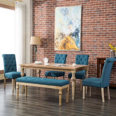 Kenleigh 6 Piece Dining Set Color: Blue