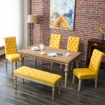 Kenleigh 6 Piece Dining Set Color: Yellow