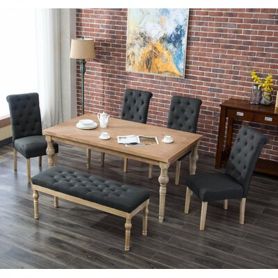 Kenleigh 6 Piece Dining Set Color: Charcoal