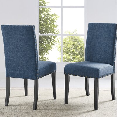 Amy Fabric Side Chair Upholstery: Blue