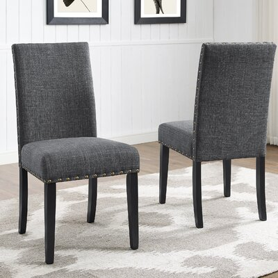 Amy Fabric Side Chair Upholstery: Gray