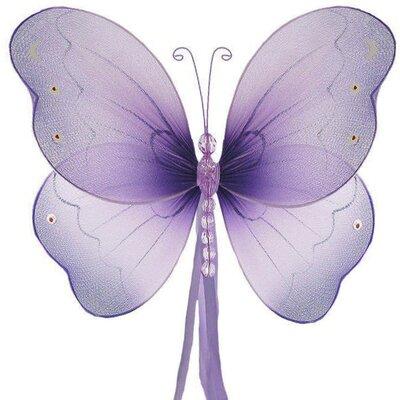 Briana Butterfly 3D Wall Decor Size: Small, Color: Purple Wisteria