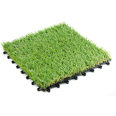 Grass 12 x 12 Plastic Interlocking Deck Tiles