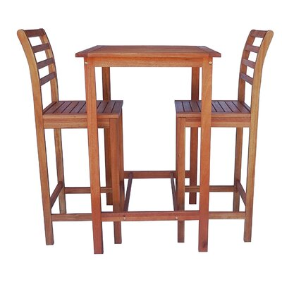 Arrigo 3 Piece Pub Table Set Color: Natural