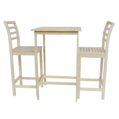 Arrigo 3 Piece Pub Table Set Color: Oak White
