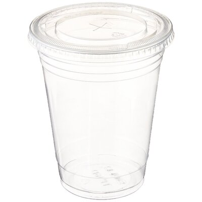 12 oz. Plastic Cup with Lid 612409777539