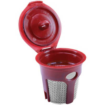 Refillable Cup Coffee Filter Color: Chrome/Red SFILK3CHROMER