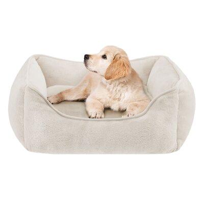 Sawyer Plush Rectangular Dog Pillow Size: 25 L x 21 W, Color: Tan