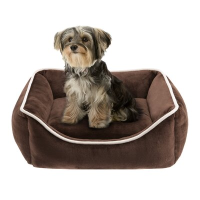 Sawyer Plush Rectangular Dog Pillow Size: 25 L x 21 W, Color: Brown