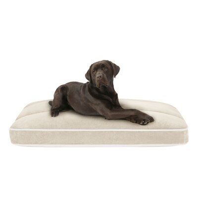 Baron Plush Channel Top Napper with Zippered Cover Size: Large (44 L x 35 W), Color: Tan
