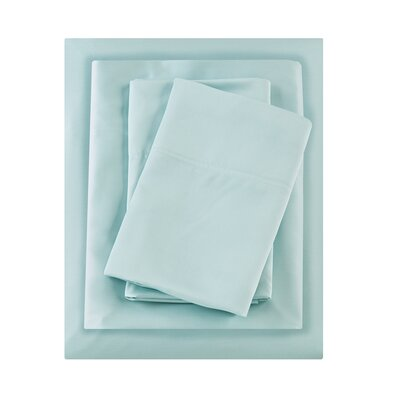 Bedford bamboo 250 Thread Count Sheet Set Size: Queen, Color: Aqua