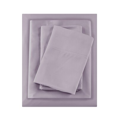 Bedford Rayon from Bamboo 250 Thread Count Sheet Set Size: King, Color: Purple