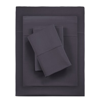 Kaye Moisture 4 Piece Sheet Set Size: Full, Color: Black