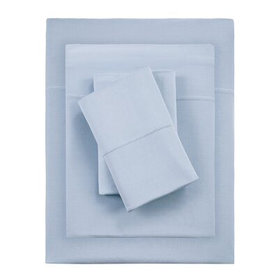 Kaye Moisture 4 Piece Sheet Set Size: King, Color: Blue