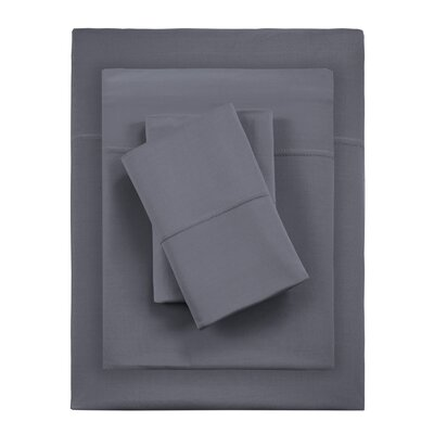 Kaye Moisture 4 Piece Sheet Set Size: Full, Color: Graphite