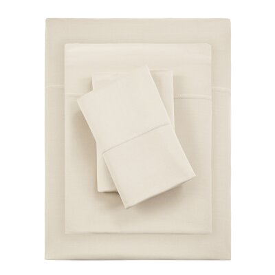 Kaye Moisture 4 Piece Sheet Set Size: King, Color: Sand
