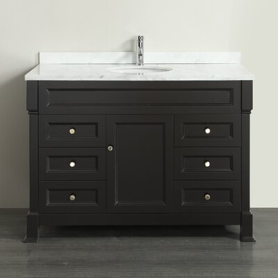 Tim� 48 Single Bathroom Vanity Set Base Finish: Espresso