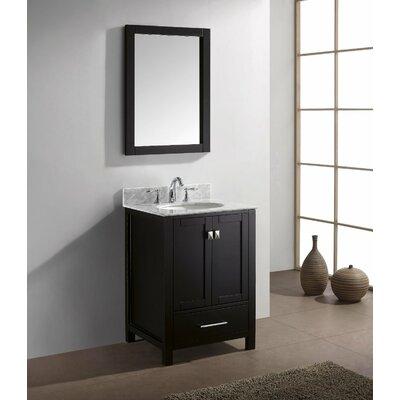 Aberdeen 24 Single Bathroom Vanity Set Base Finish: Espresso