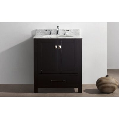 Aberdeen 30 Single Bathroom Vanity Set Base Finish: Espresso