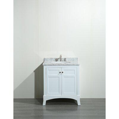 Piccirillo 30 Single Bathroom Vanity Set Base Finish: White