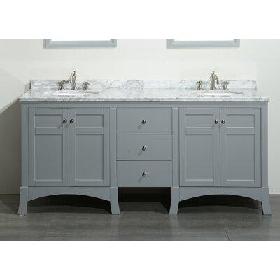 Piccirillo 72 Double Bathroom Vanity Set Base Finish: Gray