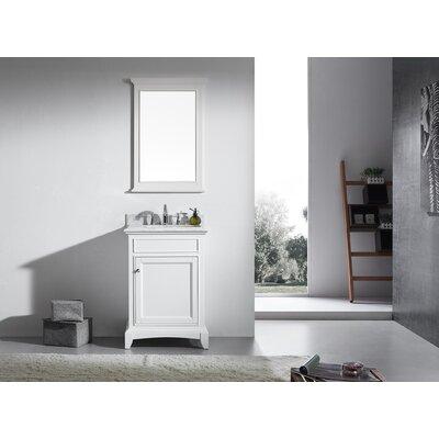 Elite Stamford 24 Single Bathroom Vanity Set Base Finish: White